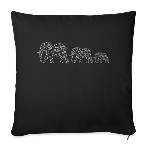 Geometrische Elefantenfamilie - Sofakissenbezug 44 x 44 cm