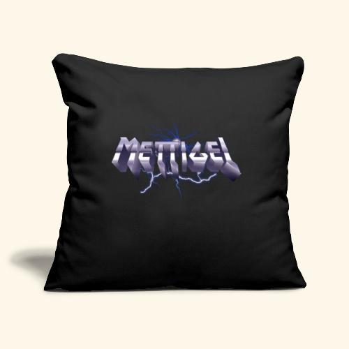 Mettigel T Shirt Design Heavy Metal Schriftzug - Sofakissenbezug 44 x 44 cm