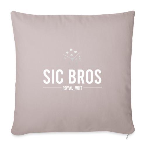 sicbros1 royal wht - Sofa pillowcase 17,3'' x 17,3'' (45 x 45 cm)