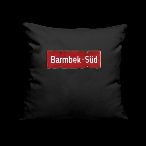 HAMBURG Barmbek Sued Ortsschild rot antik - Sofakissenbezug 44 x 44 cm