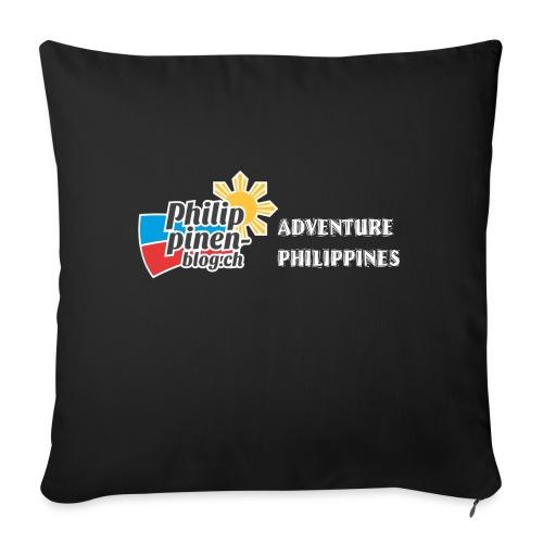 Philippinen-Blog Logo english schwarz/weiss - Sofakissenbezug 44 x 44 cm