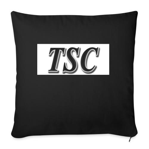 TSC Black Text - Sofa pillowcase 17,3'' x 17,3'' (45 x 45 cm)
