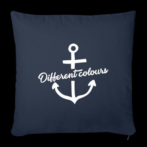 Different Colours White Logo - Copricuscino per divano, 45 x 45 cm