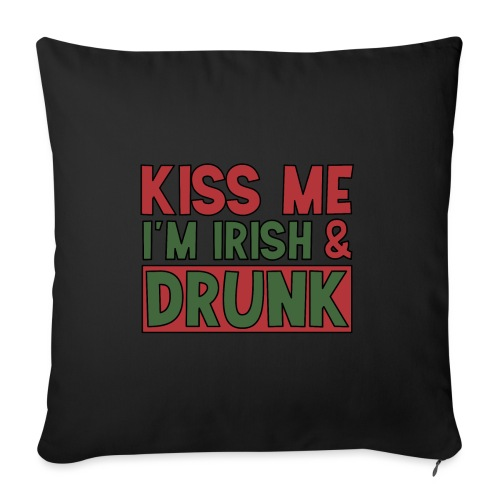 kiss me I'm Irish - St Patrick Party Bier trinken - Sofa pillowcase 17,3'' x 17,3'' (45 x 45 cm)