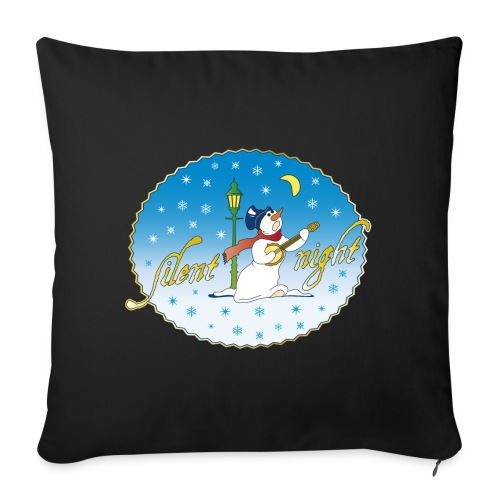 Silent Night Schneemann Mond Laterne xmas - Sofa pillowcase 17,3'' x 17,3'' (45 x 45 cm)