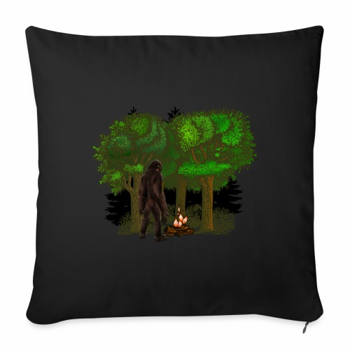 Bigfoot Campfire Forest - Sofa pillowcase 17,3'' x 17,3'' (45 x 45 cm)
