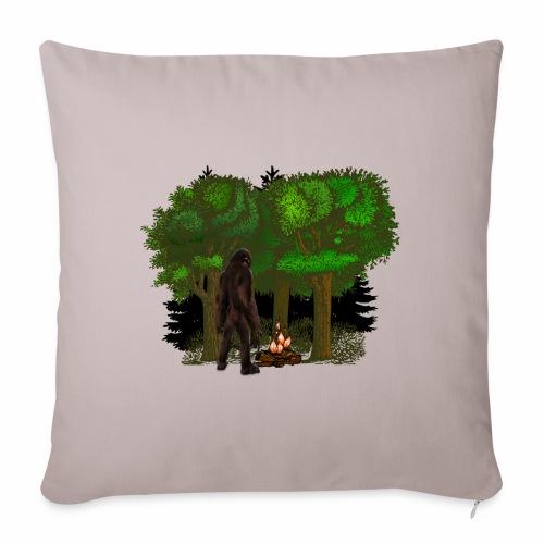Bigfoot Campfire Forest - Sofa pillowcase 17,3'' x 17,3'' (45 x 45 cm)