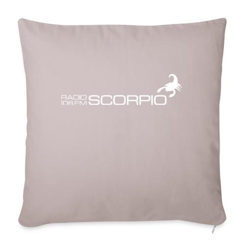 scorpio logo wit - Sierkussenhoes, 45 x 45 cm