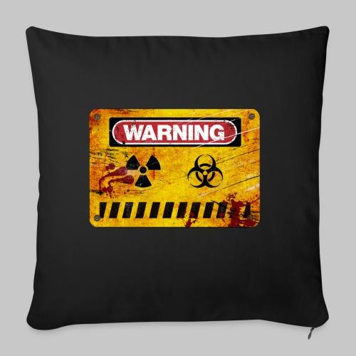 Warning - Housse de coussin décorative 45x 45cm