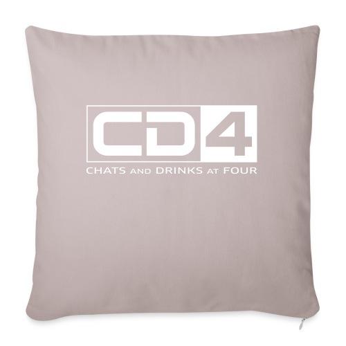 cd4 logo dikker kader bold font - Sierkussenhoes, 45 x 45 cm