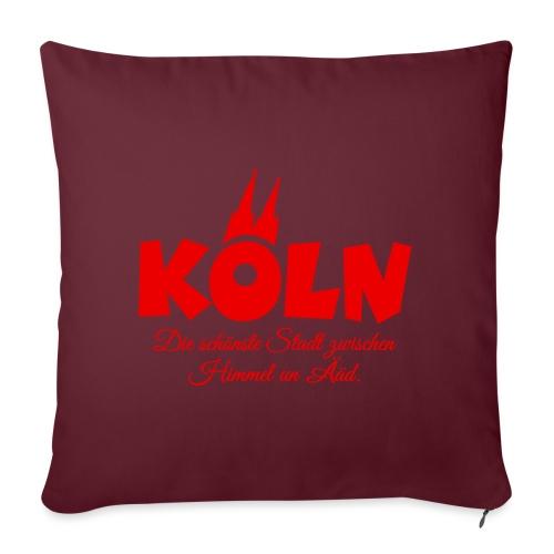 Köln schönste Stadt zwischen Himmel un Ääd (Rot) - Sofakissenbezug 44 x 44 cm