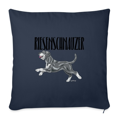 Riesenschnauzer 01 - Sofa pillowcase 17,3'' x 17,3'' (45 x 45 cm)