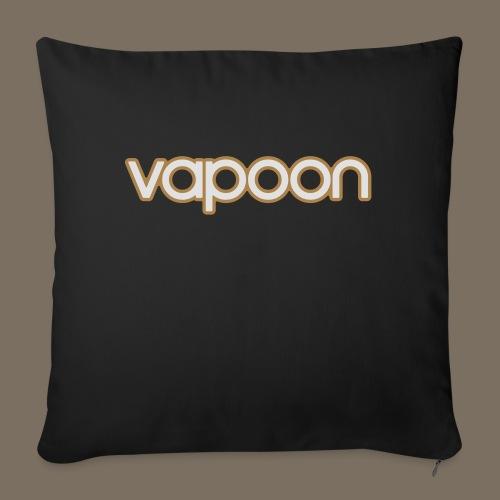 Vapoon Logo simpel 2 Farb - Sofakissenbezug 44 x 44 cm