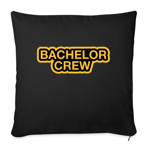 Bachelor Crew - Bachelor T-Shirt - Bräutigam Shirt - Sofakissenbezug 44 x 44 cm