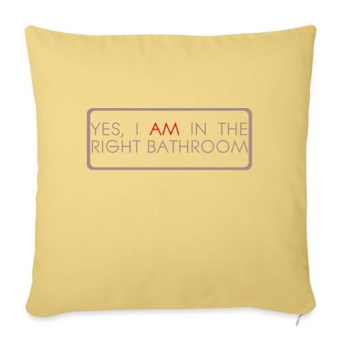 right_bathroom - Sofa pillowcase 17,3'' x 17,3'' (45 x 45 cm)