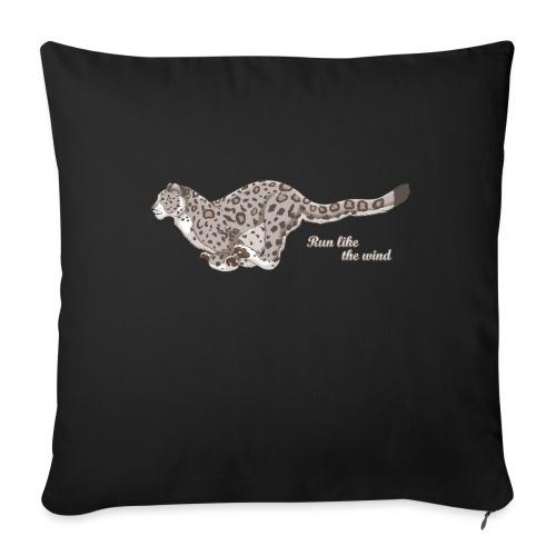 Snow Leopard: Run Like the Wind - Poszewka na poduszkę 45 x 45 cm