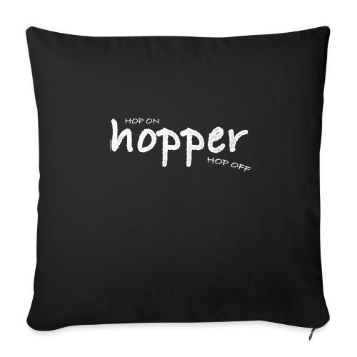 Hoppers Hop On and Off (white) - Funda de cojín, 45 x 45 cm