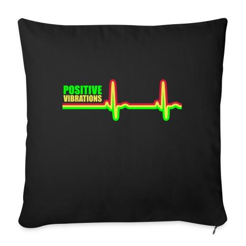 POSITIVE VIBRATION - Sofa pillowcase 17,3'' x 17,3'' (45 x 45 cm)