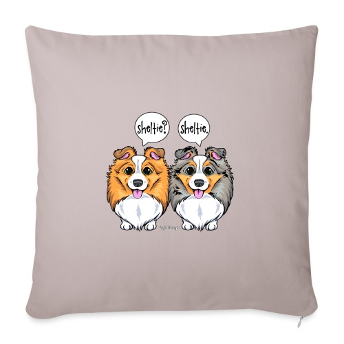 Sheltie Sheltie 3 - Sofa pillowcase 17,3'' x 17,3'' (45 x 45 cm)
