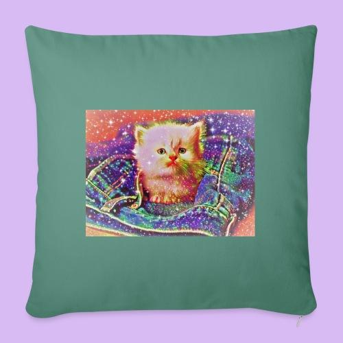 Gattino scintillante nella tasca dei jeans - Copricuscino per divano, 45 x 45 cm