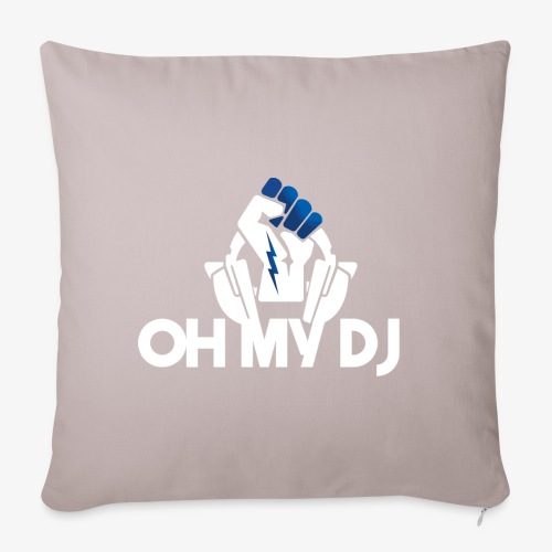 Ibiza Oh My Dj White - Housse de coussin décorative 45x 45cm
