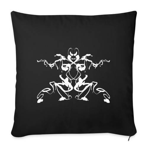 Rorschach test of a Shaolin figure Tigerstyle - Sofa pillowcase 17,3'' x 17,3'' (45 x 45 cm)