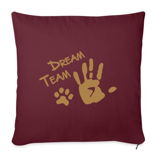 Vorschau: Dream Team Hand Hundpfote - Sofakissenbezug 44 x 44 cm
