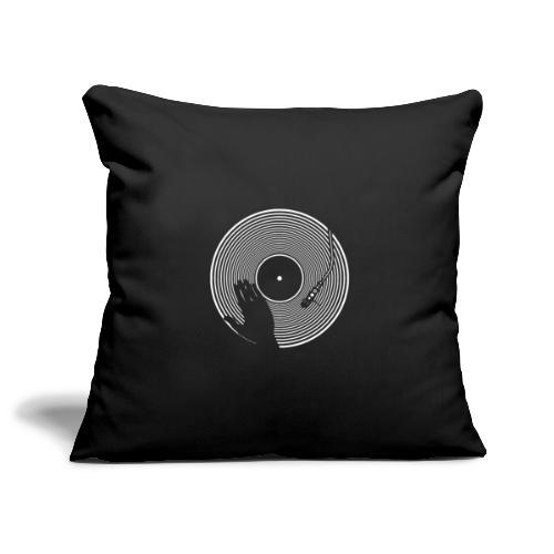 GIRADISCHI T SHIRT NERA - Copricuscino per divano, 45 x 45 cm