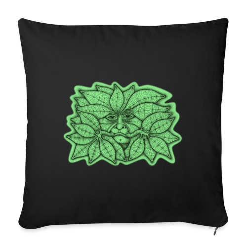 Green Man for Pagan Global Warming/Climate Change - Sofa pillowcase 17,3'' x 17,3'' (45 x 45 cm)