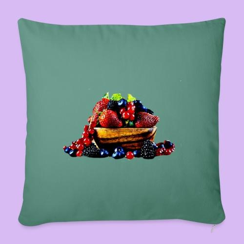 frutti di bosco - Copricuscino per divano, 45 x 45 cm