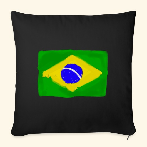 Brazilian flag InWatercolours - Soffkuddsöverdrag, 45 x 45 cm