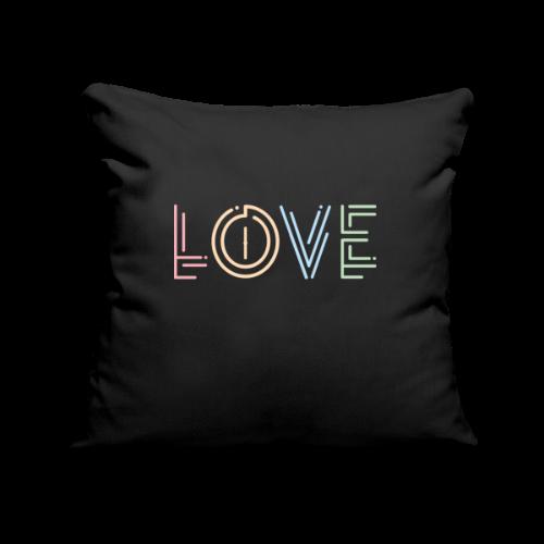 Liebe | Schriftzug kreativ bunt - Sofakissenbezug 44 x 44 cm
