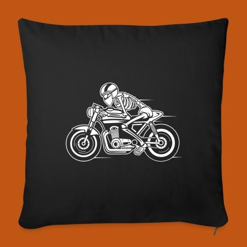 Cafe Racer Motorrad 05_weiß - Sofakissenbezug 44 x 44 cm