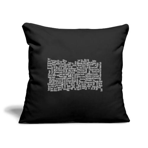 Jackspeak (white) - Sofa pillowcase 17,3'' x 17,3'' (45 x 45 cm)