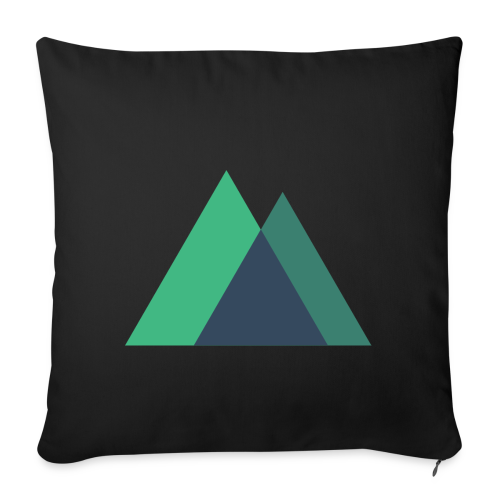 Mountain Logo - Sofa pillowcase 17,3'' x 17,3'' (45 x 45 cm)