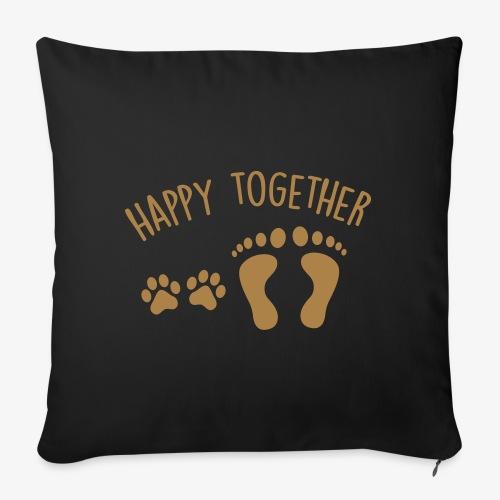 happy together dog - Sofakissenbezug 44 x 44 cm