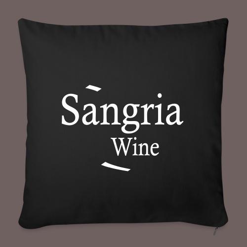 GBIGBO zjebeezjeboo - Fleur- Vin de Sangria [Flex] - Housse de coussin décorative 45x 45cm