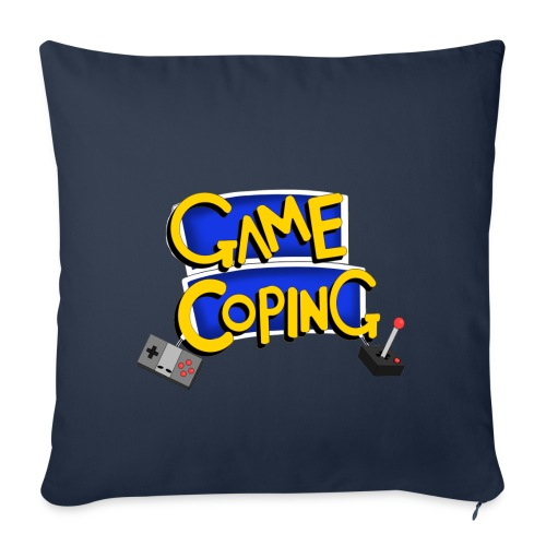 Game Coping Logo - Sofa pillowcase 17,3'' x 17,3'' (45 x 45 cm)