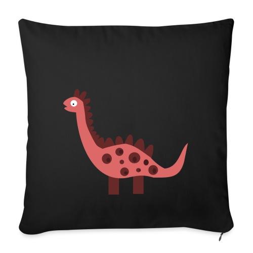 Dino pink - Sofa pillowcase 17,3'' x 17,3'' (45 x 45 cm)
