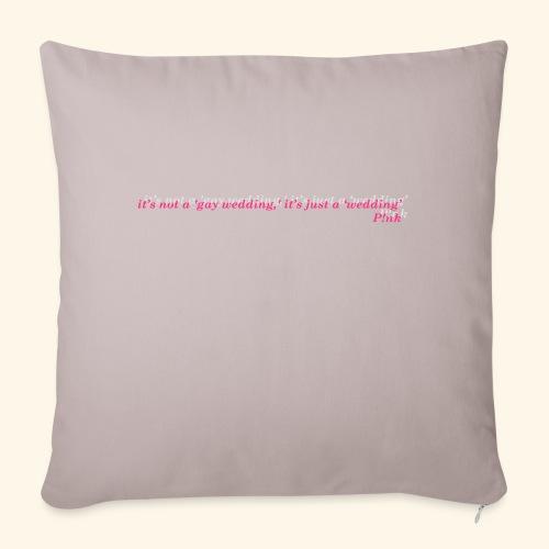 Gay wedding - Poszewka na poduszkę 45 x 45 cm