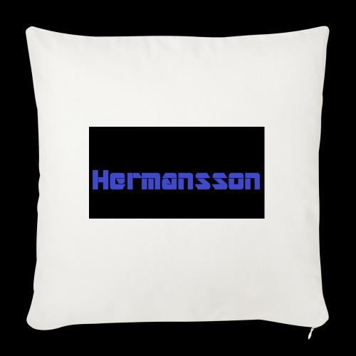 Hermansson Blå/Svart - Soffkuddsöverdrag, 45 x 45 cm