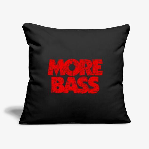 More Bass (Vintage/Rot) Bassist Bassisten - Sofakissenbezug 44 x 44 cm