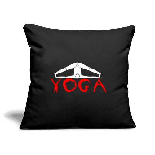 yoga yogi sport bianco namaste amore pace hippie - Copricuscino per divano, 45 x 45 cm