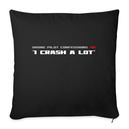 I CRASH A LOT - Sofa pillowcase 17,3'' x 17,3'' (45 x 45 cm)