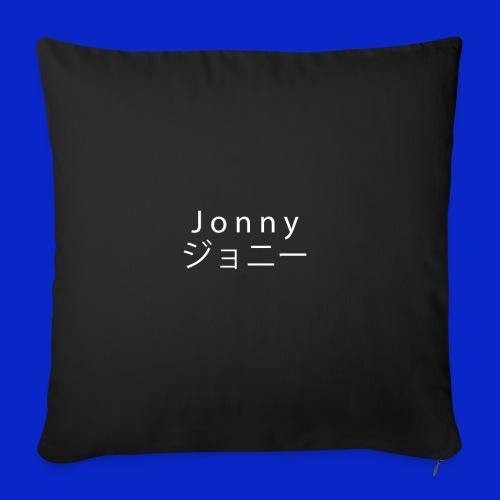 J o n n y (white on black) - Sofa pillowcase 17,3'' x 17,3'' (45 x 45 cm)