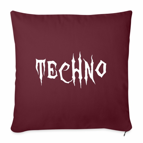 Techno Schriftzug Horror Böse Harder Styles - Sofakissenbezug 44 x 44 cm