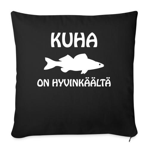 KUHA ON HYVINKÄÄLTÄ - Sohvatyynyn päällinen 45 x 45 cm