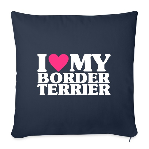 iheartmyborderterrier - Sofa pillowcase 17,3'' x 17,3'' (45 x 45 cm)