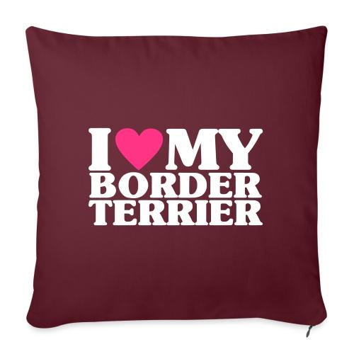 iheartmyborderterrier - Sofa pillowcase 17,3'' x 17,3'' (45 x 45 cm)