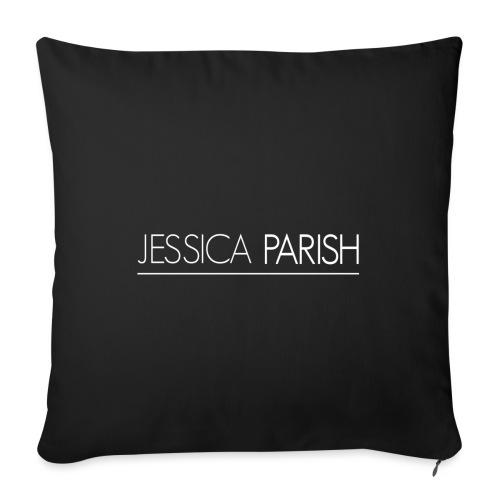 Jessica Parish Schriftzug weiß - Sofakissenbezug 44 x 44 cm